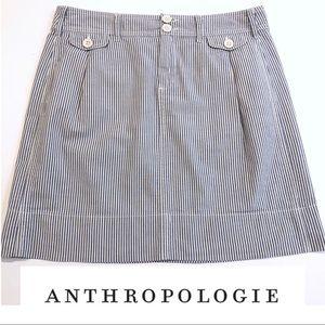 Anthropologie • Paperboy Striped seersucker skirt